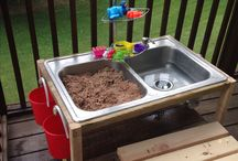 Mud Kitchens / Inspiration for awesome fun mud kitchens, sand and water tables and fillers too!