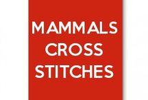 mammals cross stitches