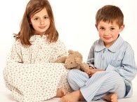 Traditional Pyjamas for Children / We love old fashioned button-up pyjamas in cosy flannel!  I hope you do too!