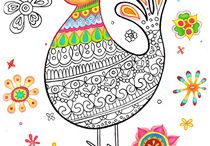 coloring pages / by Mary Womack