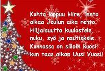 Joulurunot ja muut värssyt