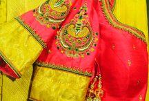 hand embroidered kanjeevaram blouse
