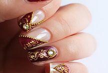 Hindu Bridal Nail art
