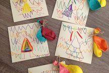 Birthday invitations made by kids / Creative invites