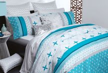 N's bedroom / Chosen colour is turquoise/aqua with white and a splash of purple.
