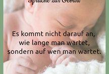 Sprüche zur Geburt