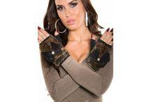 Dámske rukavice / Štýlové dámske rukavice na Zimu i Jeseň