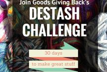 30-Day Destash Challenge August 2016 / If you want to shrink your stash but don't know how to start, why not join the 30-day super duper destash challenge? This challenge will provide a focused way to use the materials you have and keep you accountable. Not only that, but it will be really fun to see how others decide to tackle their own destash throughout the month.  Challenge runs from August 1st - August 30th, 2016