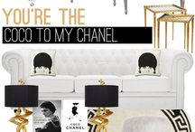 coco chanel inspired room