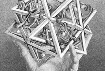 """Escher art / """" solo coloro che tentano l' assurdo raggiungeranno l'impossibile"""""""