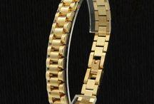 Mens Edelstahl Armband 316 L (Chirurgenstahl) 14 K Vergoldet 50 G 23,90 Euro