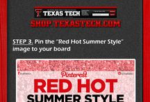 Red Hot Summer Style Pin & Win / Red Raider Fans, do you want to win the ultimate Texas Tech gear for summer and the upcoming football season?   Participate in our Red Hot Summer Style Pin and Win Contest for your chance to win items from the Texas Tech Athletics Online Store.  / by Texas Tech Athletics