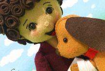 muñecos y moldes