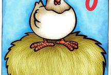 sequência numérica 1-10 galinha
