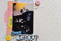Design- Clustered / scrapbook page designs featuring layouts with clusters