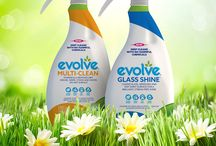 evolve® cleans / Information about the green cleaning power of the patented, plant-based technology that powers the entire home care and laundry products retail line.