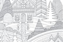 Coloring pages for adults / Relax!!! These are just too complecated for kids...no nasty pictures