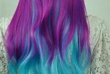 haar in coole kleuren