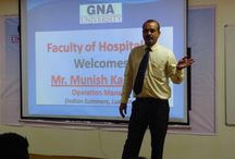 Guest Lecture on FOOD & BEVERAGE OPERATIONS IN HOTEL INDUSTRY / Guest Lecture on FOOD & BEVERAGE OPERATIONS IN HOTEL INDUSTRY was organized for the students of B.Sc HMCT by the Faculty of Hospitality on 12-02-2014. Guest Speaker - Mr. Munish Kashyap, Operations Manager (Hotel Indian Summers, Ludhiana) deliberated on Overview of Hospitality Industry, Present scenario in Hotel & Catering Operations and blue prints to become successful hotelier.