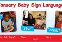 Baby Sign Language / Keep the conversation going at home with your little one. Try using Baby Sign Language to communicate with your child before they can speak!