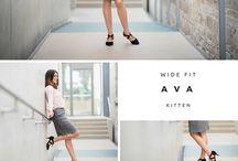 Wide Fit Kitten Heels