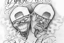 gangster drawings