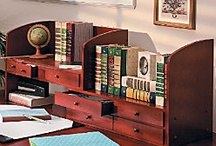 Home Office Ideas / Home office furniture, unique bookshelves and storage solutions.
