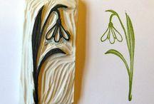 stamp carved fleurie