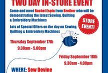 Sew Devine - Store Events