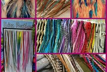 Hairextentions by Face Fantasy   BodyArt / Hairfeathers, hair wraps, hairextentions, headbands