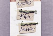 Troue Name place cards