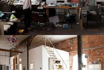 Where the magic happens / Studios, workplaces and desktops full of stuff and creative feelings <3 A lovely and inspiring place to be!