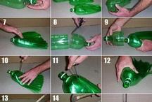 Garrafas de plástico recicladas