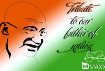Happy Gandhi Jayanthi / Tribute to our father of nation