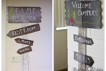 camping-themed birthday party