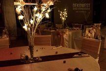 Karácsonyi esküvő dekoráció