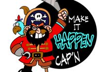Pirate Boaters Shirts for the Captain