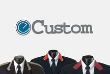 E-Custom and Decoration / Examples of embroidery and customization options offered at Edwards Garment