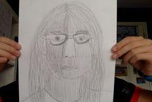 zelfportret 1: plasties met potlood / een tekening gemaakt met potlood en schaduw
