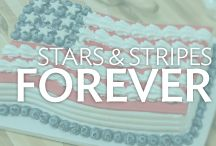 Stars and Stripes Forever / Bring out the Red, White and Blue with patriotic cake decorating ideas for summer celebrations.