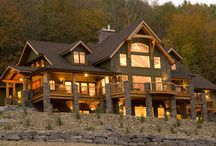 Vacation House Inspiration / Someday, I'm going to have a vacation house in the PNW or Alaska.