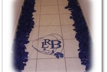 monogram aisle runners by RAD Event Production / Custom monogram aisle runner created by RAD Event production - wedding aisle runner