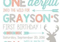 10 modern bear birthday invites