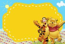 Winnie The Pooh Ücretsiz Parti Setleri -Winnie The Pooh Free Party Kits