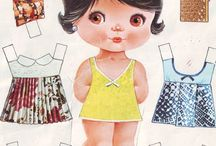 paper dolls two / Ideas for dress me up dolls made from craft foam.