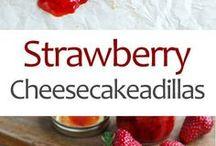 Strawberries cheesecakedillas