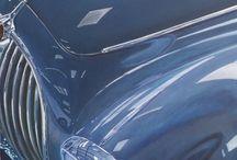 """JAGUAR """"LA MEME EN VERT """" / Jaguar mk2  Acrylique sur toile  80x80"""