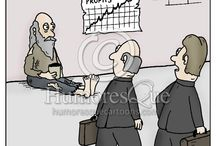 Finance Cartoons / Cartoons about money and banking, financial planning, saving and spending