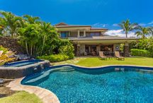 Featured Property- Mauna Kea Townhouse / This luxurious two-story townhome is located in the Mauna Kea Resort, on the Big Island. Mauna Kea Townhouse sleeps up to 10 guests and offers a covered outdoor lanai, spacious common areas, a gourmet kitchen, close proximity to popular beaches, and a private backyard with a pool and hot tub that is surrounded by lush tropical foliage and tiki torches. This stunning villa is a perfect retreat for families looking to enjoy a private luxury vacation on the Big Island!