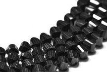 Natural Black Spinal Gemstone Beads / Get the best natural Black Spinel gemstone beads from Indian Mines. Available in clear faceted fancy shape. A bead measures from 8mm to 9mm. These beads are unbleached, real, untreated & beautiful which allure you